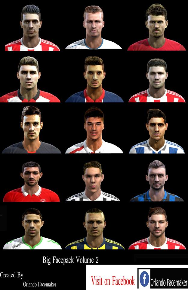 PES 2013 Big Facepack Volume Vol.2 By Orlando Facemaker
