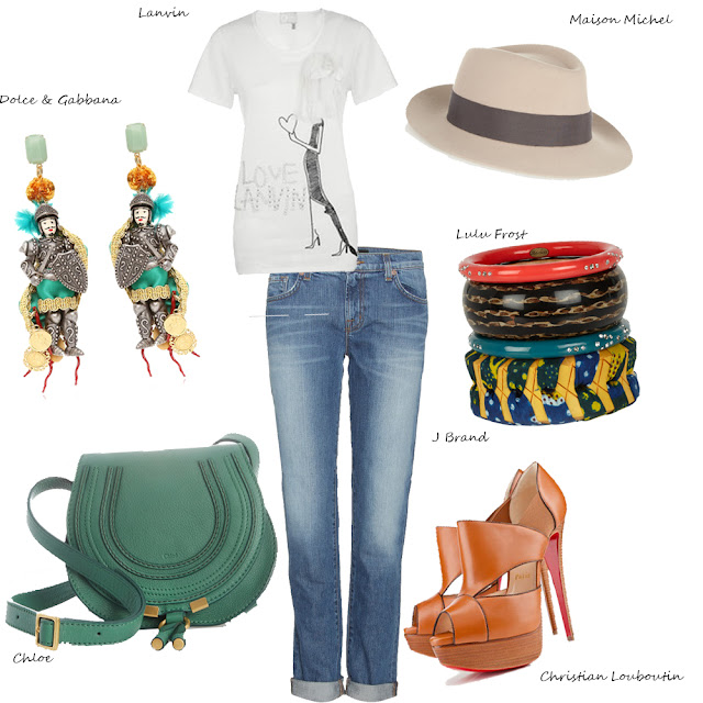 Lanvin, Chloe, JBrand, Lulu Frost, Maison Michel, Dolce & Gabbana, Chritian Louboutin