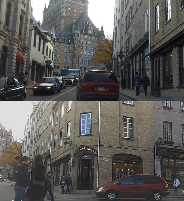 Driving through Old Quebec City - Passeio lado antigo Quebec, Canadá