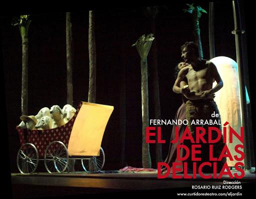 Cartel de El jardín de las delicias. F.Arrabal