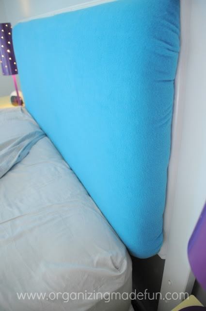 turquoise headboard tween room girl