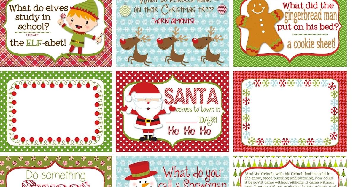 The Polka Dot Posie Printable Christmas Lunch Box Notes
