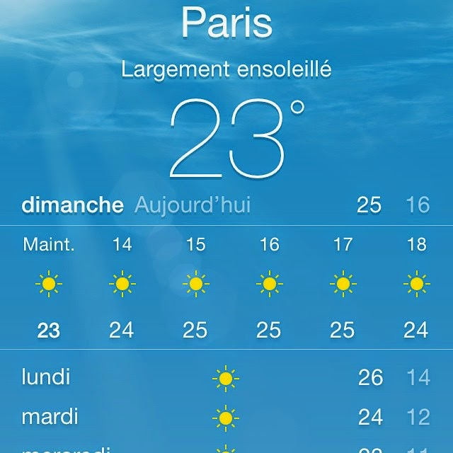 Belle météo à venir cette semaine en région parisienne  /  Beautiful weather forecast this week in Paris area 10659242_10152255156630800_8376760933405615405_n
