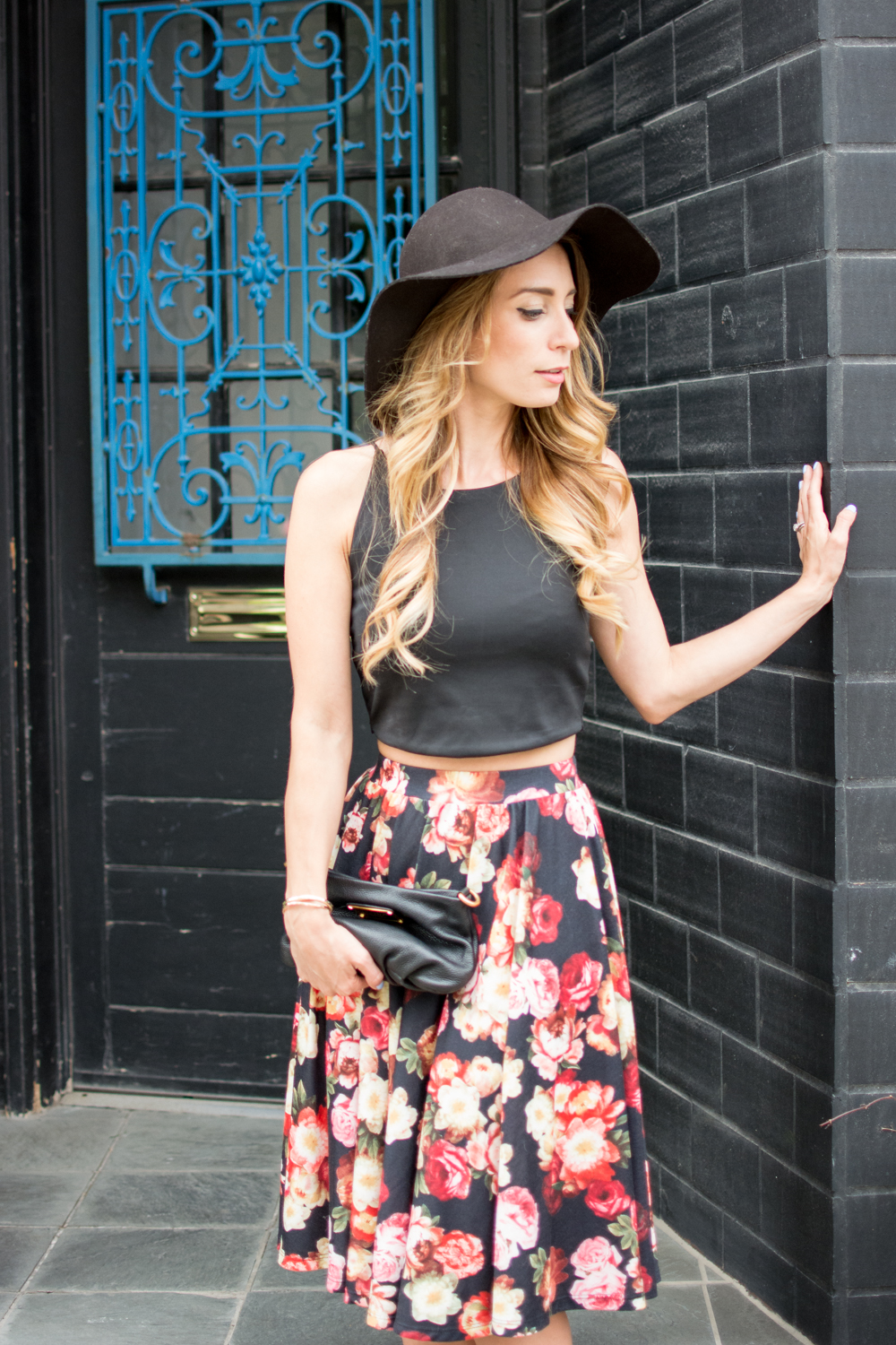 toronto fashion blogger in floral