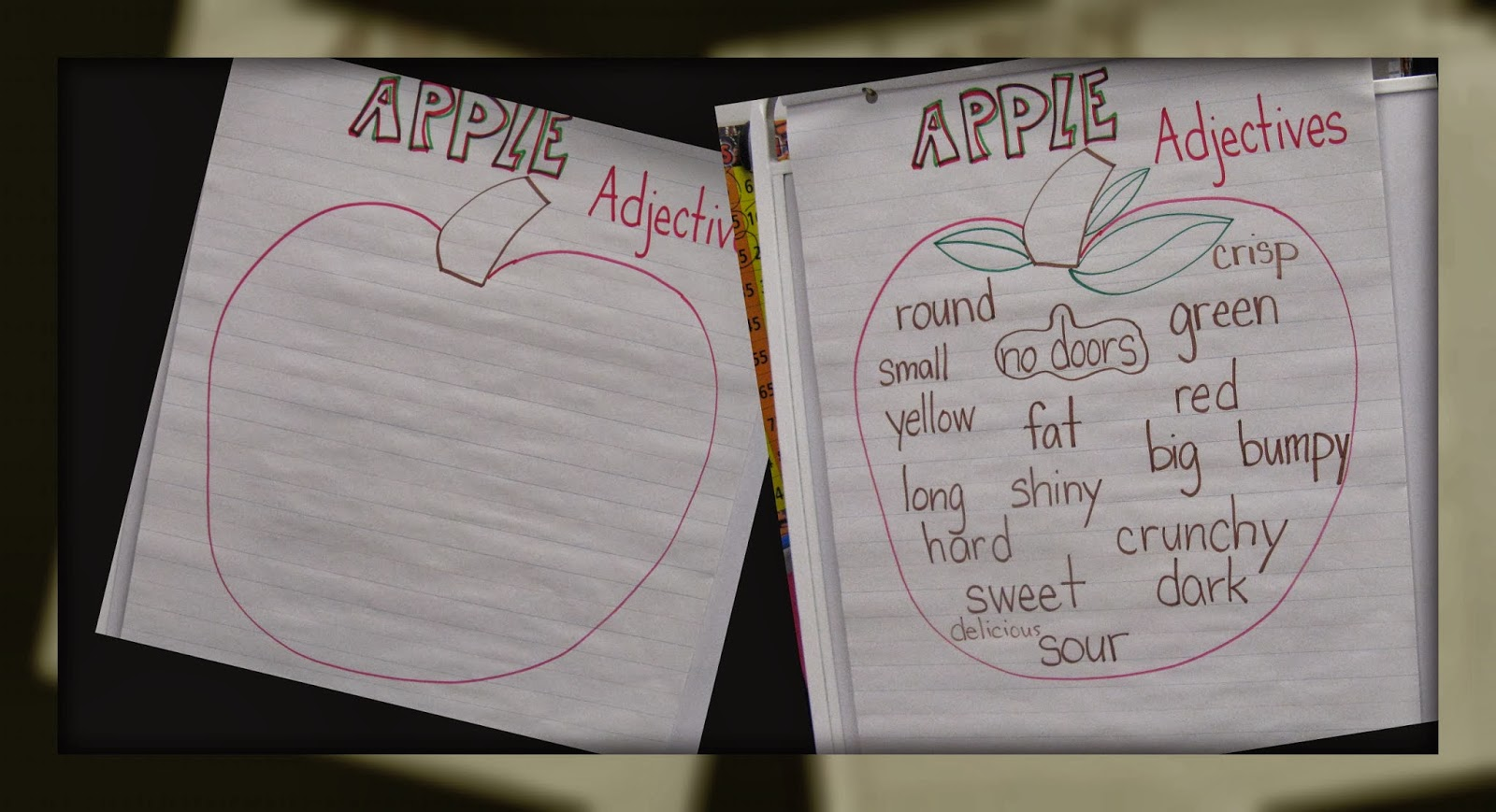 Our Seasons Of Change Adjectives Apples Art Oh My