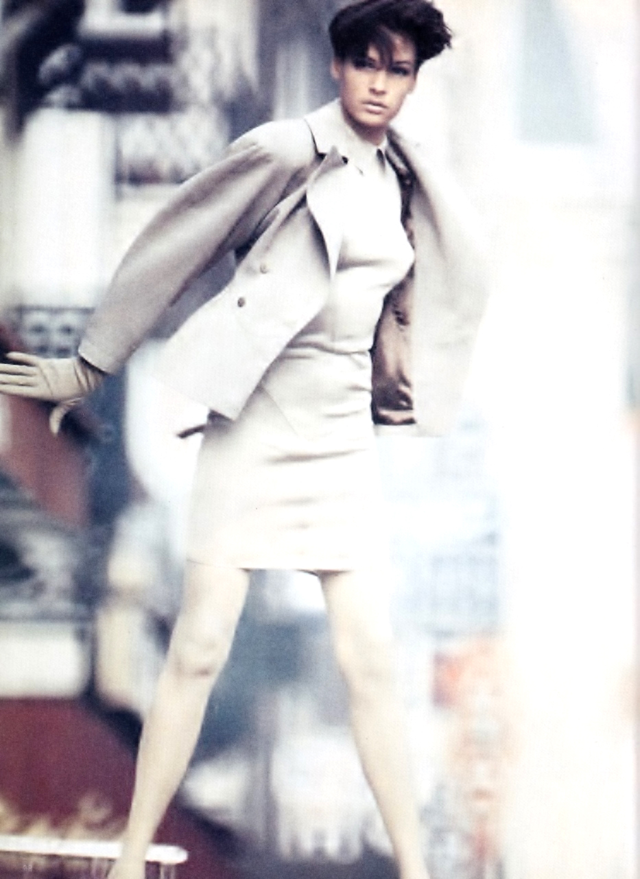 Azzedine Alaia in Vogue UK January 1986 (photography: Eddy Kohli)