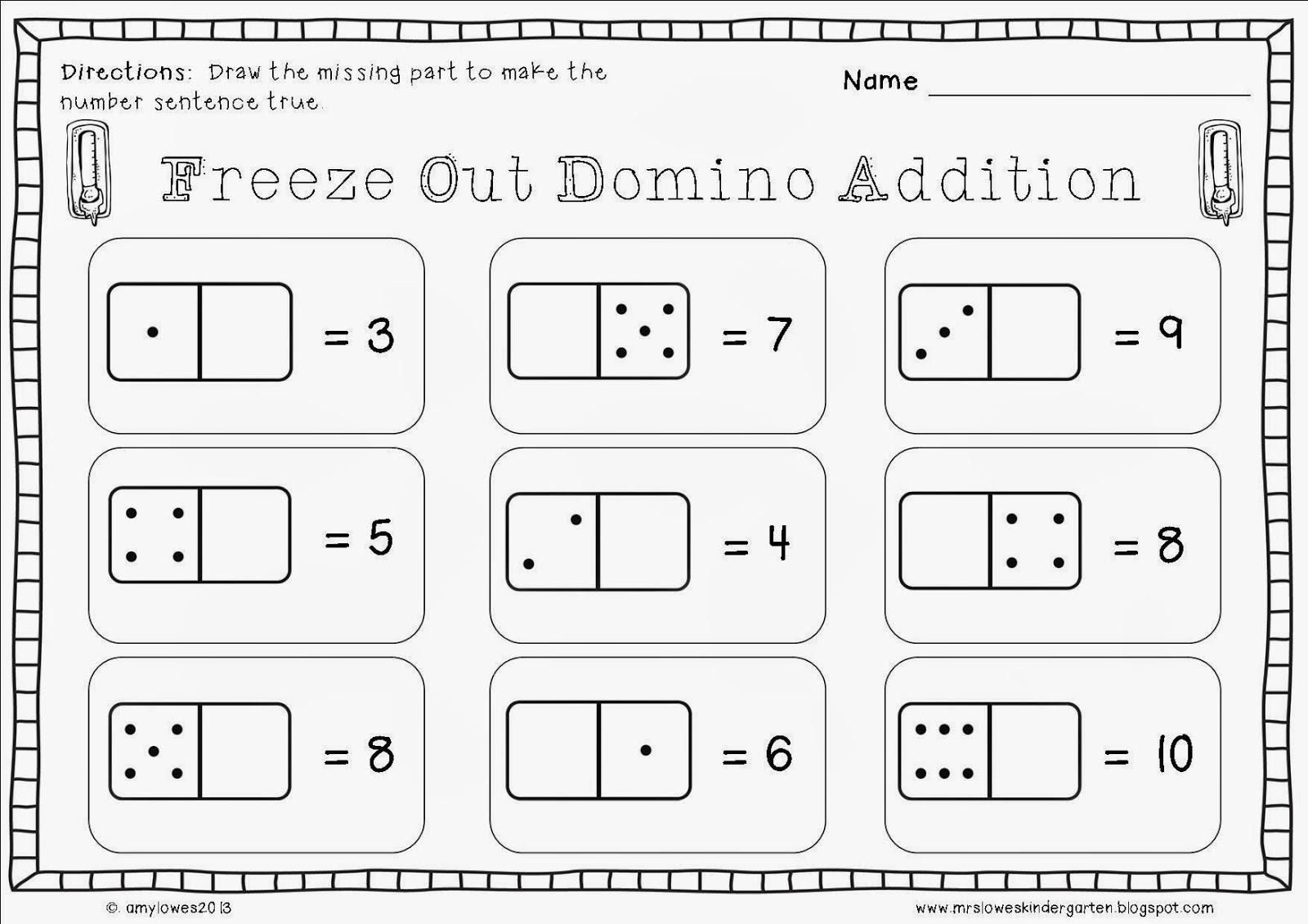 Mrs. Lowes\' Kindergarten Korner: No Prep Winter Math and Literacy ...