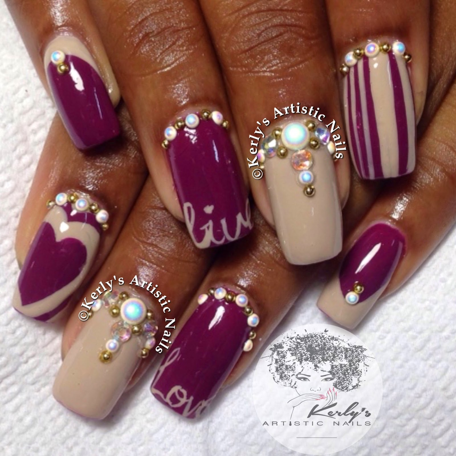 Stiletto Nail Designs With Rhinestones
