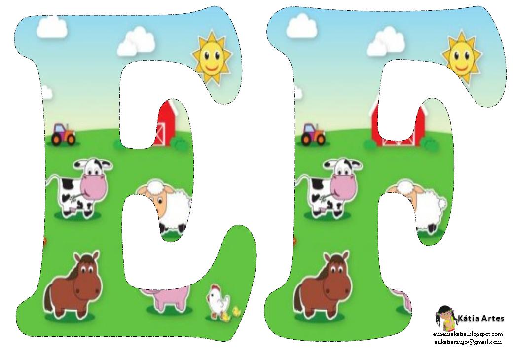 Alfabeto de la granja oh my alfabetos - Apliques infantiles de pared ...