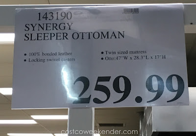 Deal for the Synergy Sleeper Ottoman at Costco