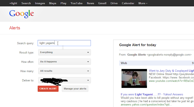 how to let google alert you