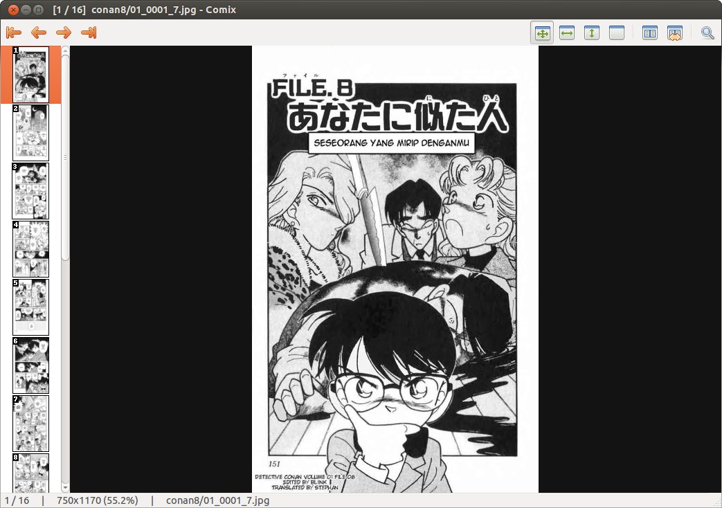 Baca Komik Manga Di Linux Ubuntu GITO ARJUNA