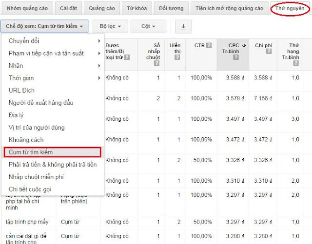 Chiến lược tối ưu chi phí quảng cáo với Từ khóa phủ định - hình 3
