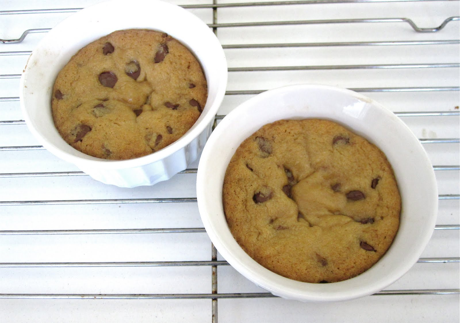 Center of cookie cups will sink upon cooling, creating a well for your ...