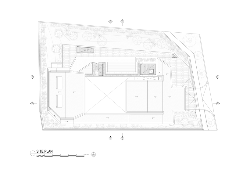 Site plan of an Impressive dream home in Singapore by a-dlab