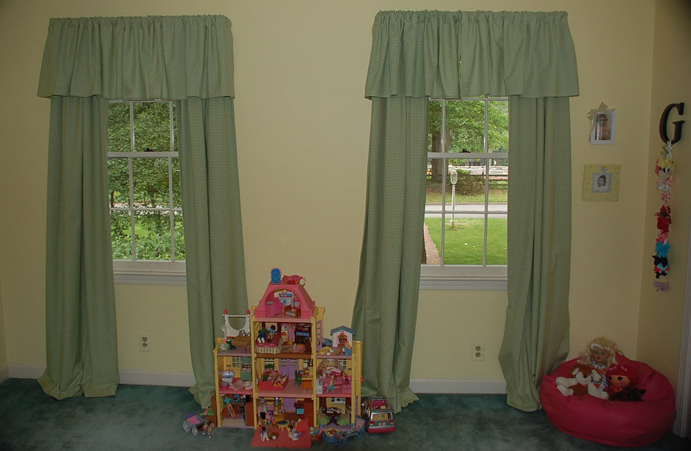 Pottery Barn Gingham Curtains Green Curtain Designs