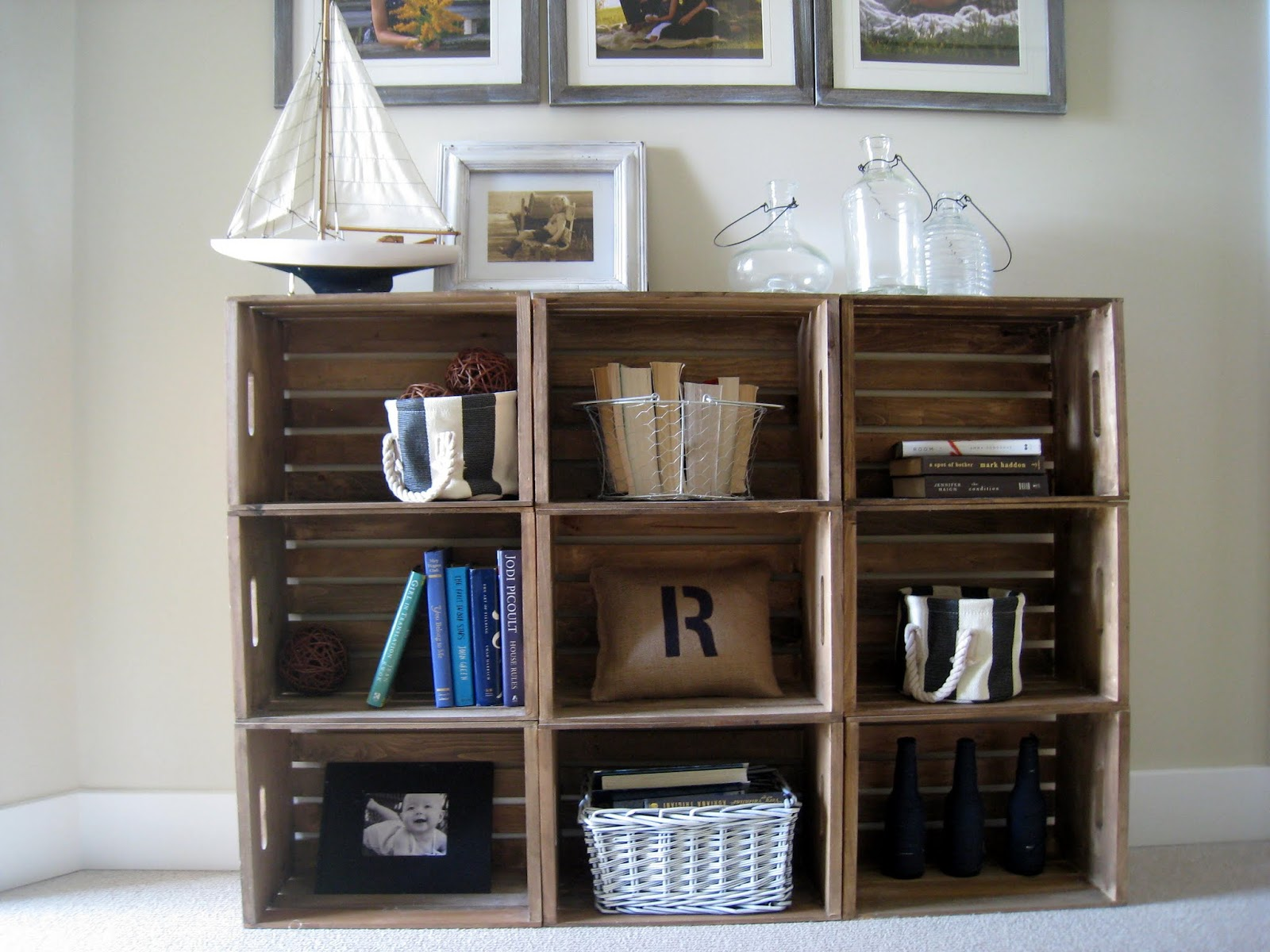 easy crate bookshelves - Using Crates As Bookshelves