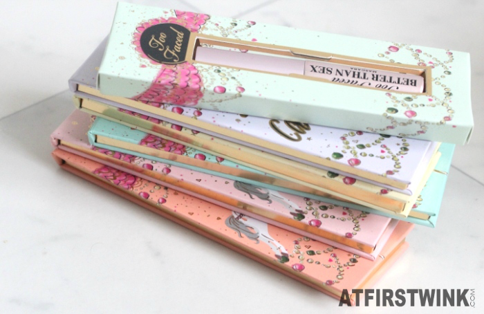 Too Faced La Belle Carousel booklets with gold sides