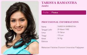 Foto Foto Finalis Miss Indonesia 2012 Tarisya Ramantha Bugil dengan terbaru di video bugil