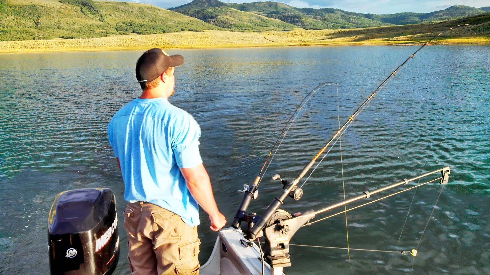 Fishing with ben kokanee strawberry reservoir 08 05 13 for Strawberry reservoir fishing