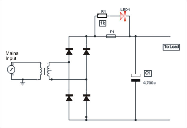 electronics projects  blown fuse monitor circuit