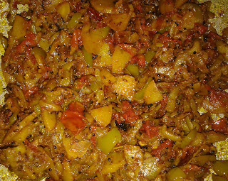 Parwar sabji without coriander leaves