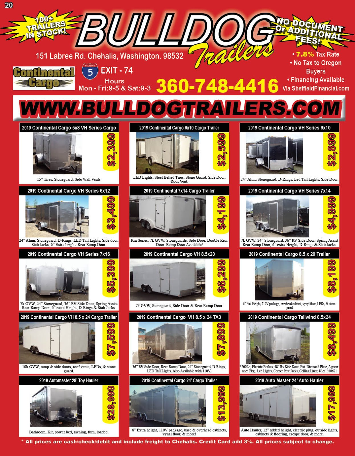 Bulldog Trailer Carries Continental Cargo Trailers!!