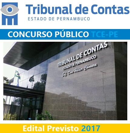 TCE/PE: Concurso Público previsto em 2017 (EDITAL)