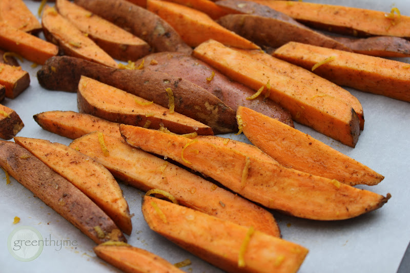 greenthyme: Oven Baked Sweet Potato Fries