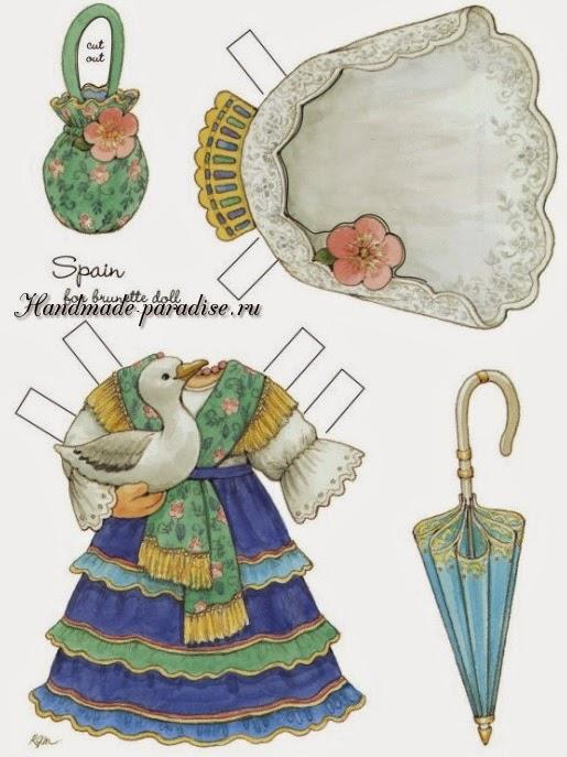 Бумажные куклы с одеждой для вырезания 4