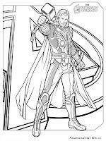 Mewarnai Gambar Thor The Avenger
