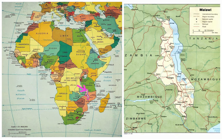 Hier liegt Malawi: