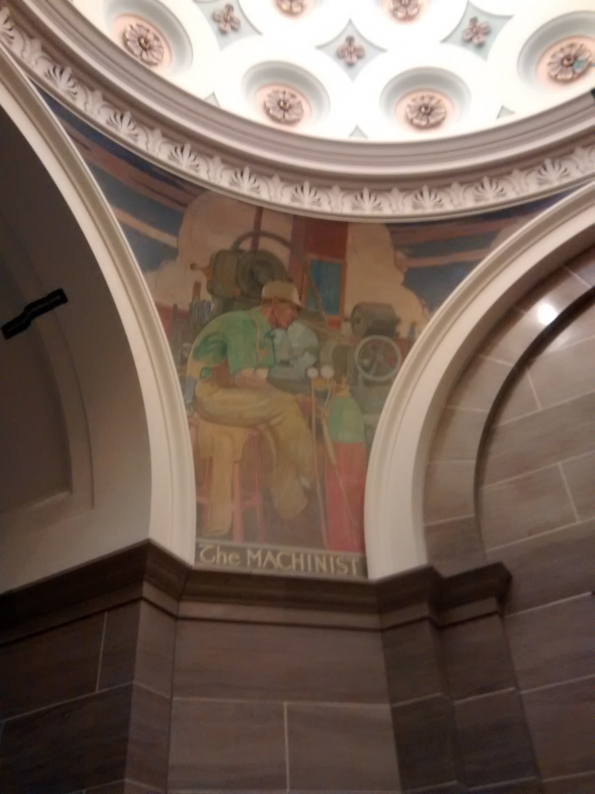 Machinist Mural at Capital Building