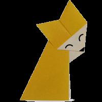 Origami Binatang Serigala