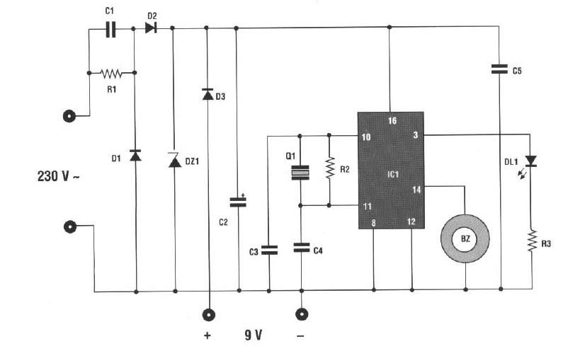 Schema chasse moustiques electronique a quartz 230 volts c - Schema chasse d eau ...