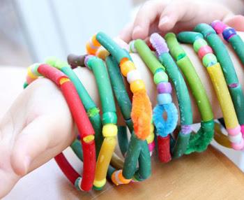 Pasta and Beads Bracelets