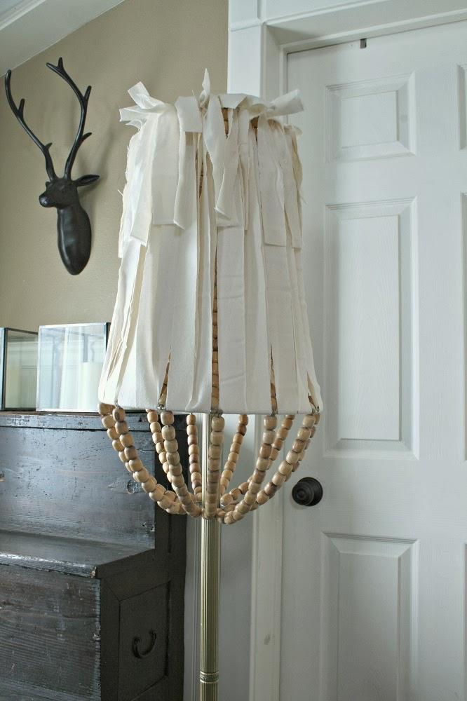 Jen Widner Lifestyle Blog: DIY Wood Bead Lamp Shade
