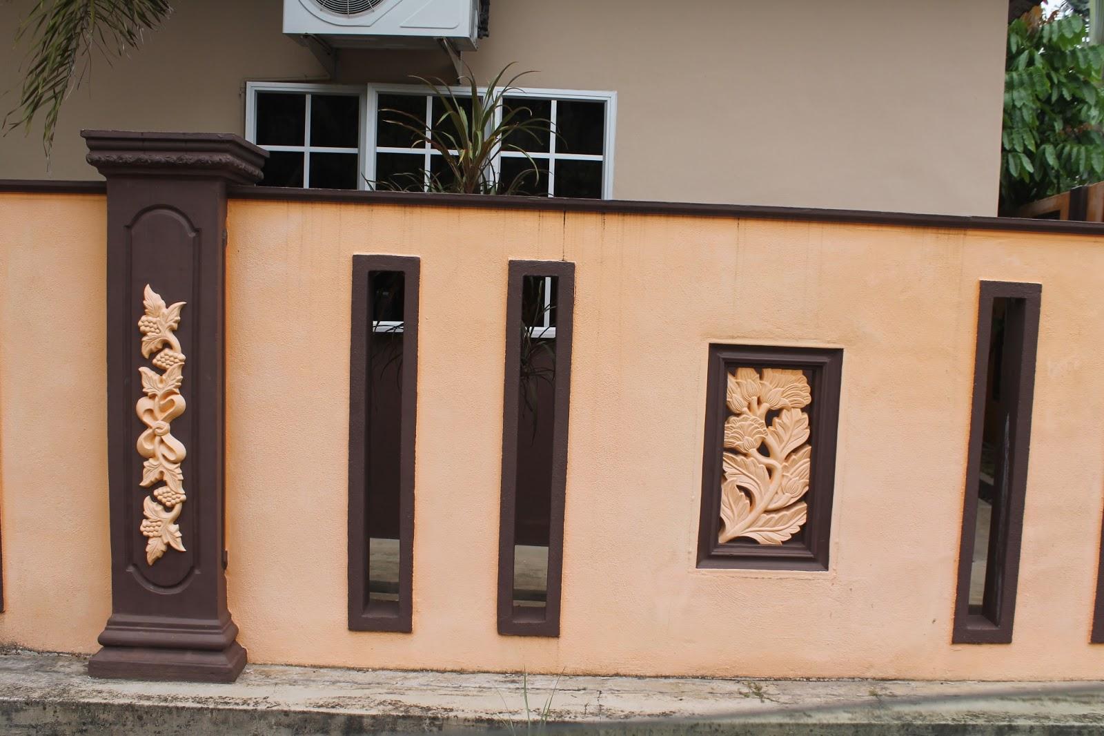 kuantan interior design khidmat pagar batu design kayu