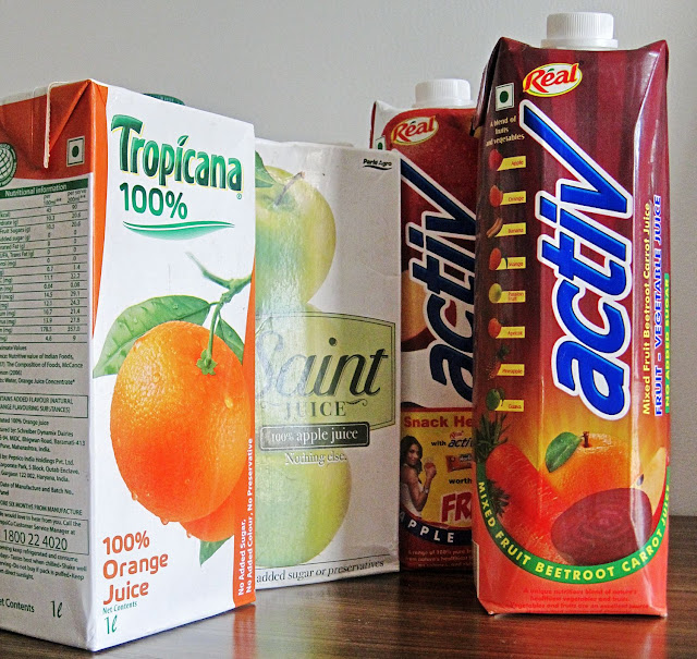 fruit juices packs