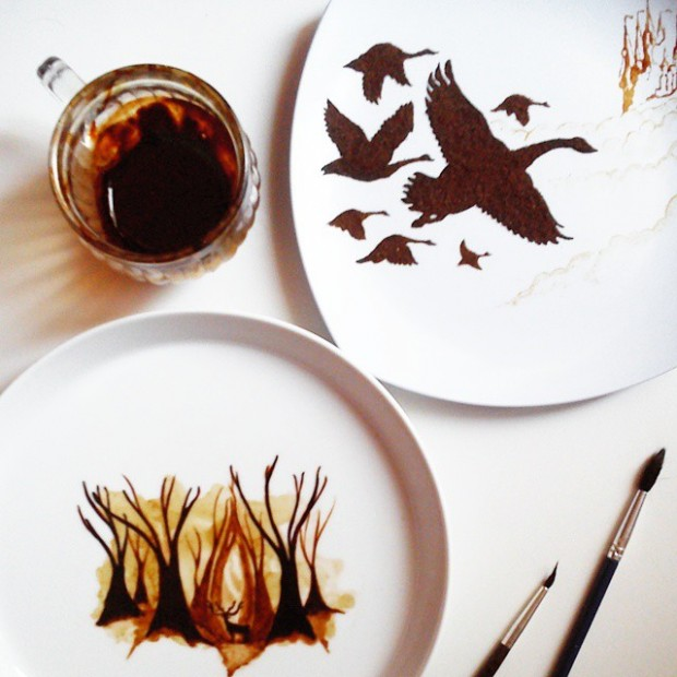 amazing coffee paintings