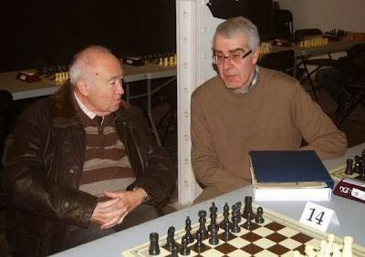 Ridameya conversando con Alejandro Melchor en diciembre de 2012