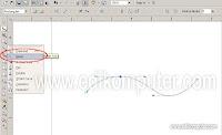 Cara membuat tulisan mengikuti garis yang kita inginkan 1