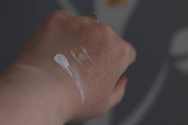 swatches on hand of Sudocrem antiseptic healing cream and sudocrem care & Protect