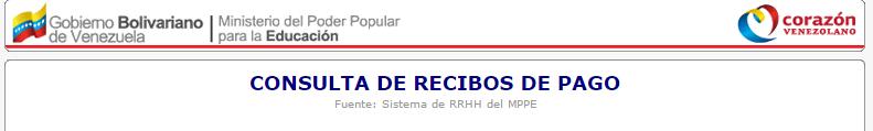 CONSULTA DE RECIBOS DE PAGO