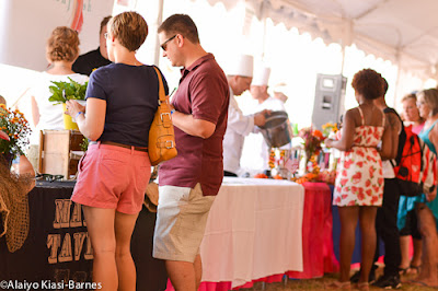 Tasters at the Maryland Crab Soup Cookoff--Pescetarian Journal