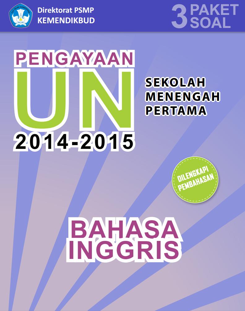 3 Paket Soal Ujian Nasional Smp Mts 2015 Smp Negeri 1 Situbondo
