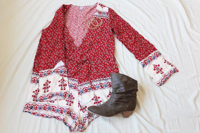 Boho-Jumpsuit mit Blumenprint