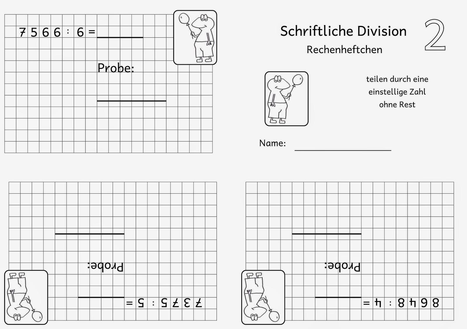 Lernstübchen: Rechenheftchen schriftliche Division (1)