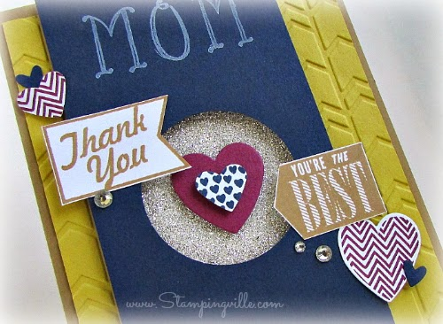 Heart and banner photo image detail with embellishments