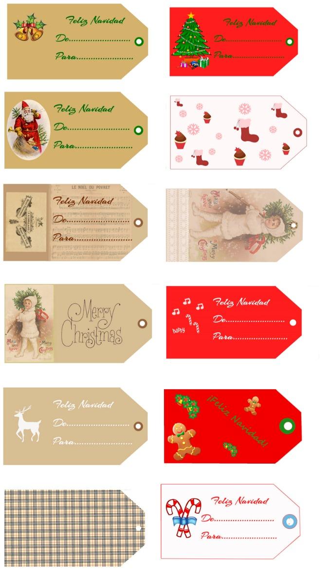 etiquetas navidad gratuitas